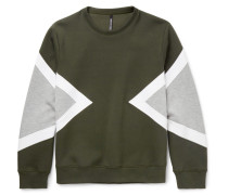 Modernist Panelled Jersey Sweatshirt