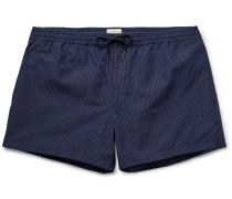 Arlen Slim-fit Short-length Striped Cotton-blend Swim Shorts