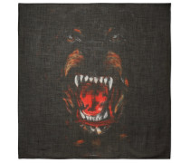 Rottweiler Printed Cashmere And Silk-blend Scarf