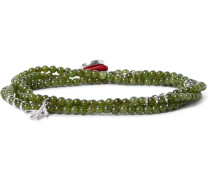 Saracino Jade And Silver Wrap Bracelet