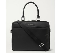 Haneda Leather-Trimmed Nylon Briefcase