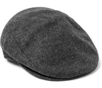 Herringbone Wool Flat Cap