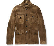 Icon Military Slim-fit Suede Field Jacket