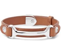 Leather Silver-tone Bracelet