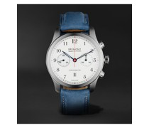 ALT1-C Rose Automatic Chronograph 43mm Stainless Steel and Nubuck Watch, Ref. No. ALT1-C/ROSE