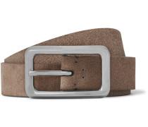 2.5cm Washed-suede Belt