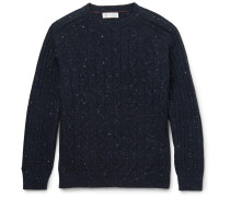 Mélange Cable-knit Sweater