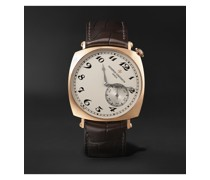 Historiques American 1921 Hand-Wound 40mm 18-Karat Pink Gold and Alligator Watch, Ref. No. 82035/000R-9359