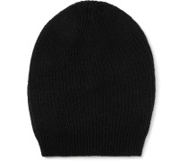 Ribbed-knit Cashmere-blend Beanie