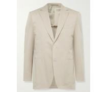 Slim-Fit Cotton-Blend Twill Suit Jacket