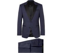 Navy Helward Gelvin Slim-fit Wool And Silk-blend Tuxedo
