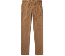 Slim-fit Stretch-cotton Corduroy Trousers