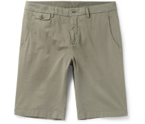 Madison Washed Stretch-cotton Shorts