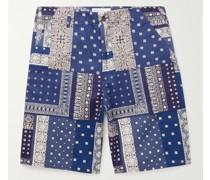 Patchwork Bandana-Print Cotton Shorts