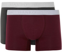 Two-pack Stretch-cotton Boxer Briefs