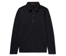Mélange Wool-Blend Polo Shirt