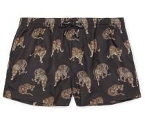 Slim-fit Short-length Printed Swim Shorts