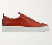 Hand-Painted Leather Sneakers