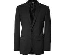 Black Slim-fit Stretch-virgin Wool Suit