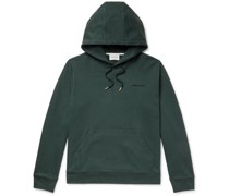Vagn Logo-Embroidered Loopback Cotton-Jersey Hoodie