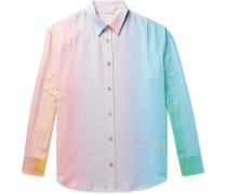 Printed Slub Silk Shirt