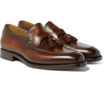 Polished-leather Tasselled Loafers