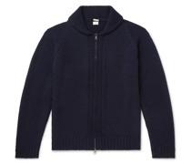 Ian Shawl-Collar Wool Zip-Up Cardigan