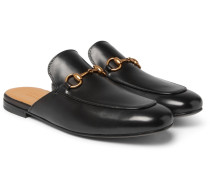 Kings Horsebit Leather Backless Loafers