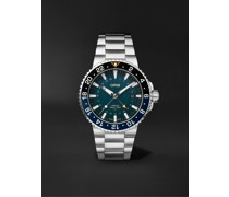 Aquis Whale Shark Limited Edition Automatic 43.5mm Stainless Steel Watch, Ref. No. 01 798 7754 4175-Set