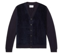 Cotton Corduroy-Panelled Wool Cardigan