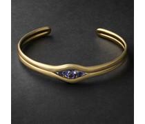 Trillion 18-Karat Gold Iolite Cuff