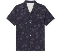 Dario Camp-Collar Printed Cotton-Voile Shirt