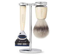 Fusion Chrome and Resin Three-Piece Shaving Set