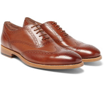 Cristo Burnished-leather Wingtip Brogues