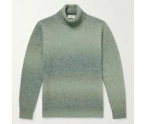 Slim-Fit Degradé Knitted Rollneck Sweater