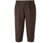 Oxford Cropped Tapered Wool-Tweed Suit Trousers