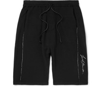 Slim-Fit Embroidered Loopback Jersey Shorts