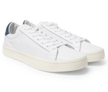 Court Vantage Nubuck, Leather And Mesh Sneakers
