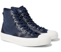1970s Chuck Taylor All Star Hiker Brushed-canvas High-top Sneakers