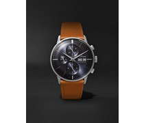 Meister Automatic Chronoscope 40mm Stainless Steel and Leather Watch, Ref. No. 027/4526.01