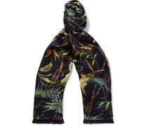 Tropical-Print Silk Scarf