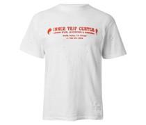 Distressed Flocked Organic Cotton-Jersey Running T-Shirt