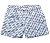 Leme Mid-length Printed Swim Shorts