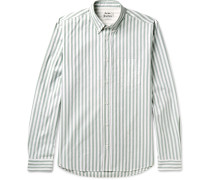 Isherwood Button-down Collar Striped Cotton Oxford Shirt