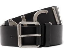 4cm Black Leather Belt