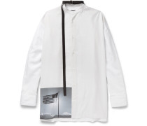 + Robert Mapplethorpe Foundation Strap-detailed Grandad-collar Printed Cotton Shirt