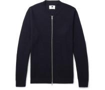 Jake Waffle-knit Virgin Wool-blend Zip-up Sweater