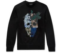 Patchwork Printed Cotton-jersey Sweatshirt
