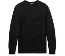 Open-knit Cotton Sweater