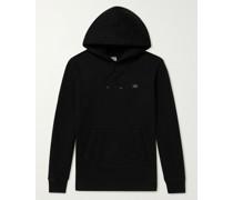 Logo-Appliquéd Garment-Dyed Cotton-Jersey Hoodie